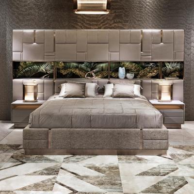 Visionnaire ALESSANDRO LA SPADA卧室设计案例 方块轻奢卧室 化妆柜床头柜