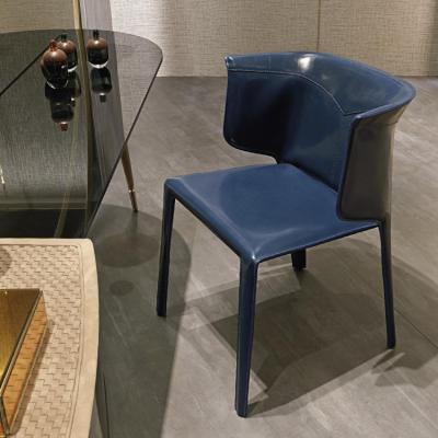 意大利奢华家具 VISIONNAIRE ANASTASIA 餐椅洽谈椅休闲椅马鞍皮家具