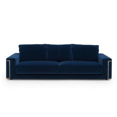 意大利芬迪·卡萨FENDI CASAMontgomery深蓝布质四人沙发