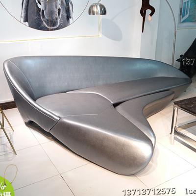 经典| 扎哈哈迪德|沙发金属质感 收藏好货 品味高端 |现货|珍藏版 酒店玻璃钢内架月亮沙发
