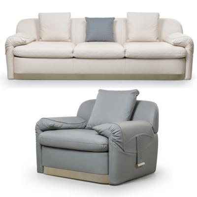 意大利Turri Sofa 沙发 单人位双人位三人位移沙发 五金超纤皮仿真皮布艺雪崩沙发