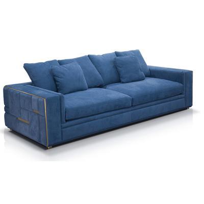 Visionnaire  Sofa 轻奢沙发 单人位双人位三人位沙发 标准版 不锈钢拉丝嵌入包边方块方格砖块沙发