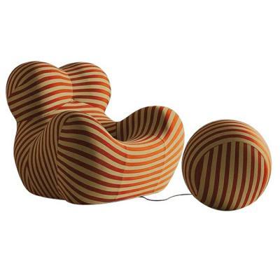 网红椅 母子椅子 意大利母亲的怀抱女人身体母子圆球脚踏 线条美50周年绒