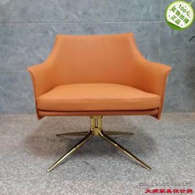 现货意大利设计师休闲椅 玻璃钢内架稳固定型 不锈钢电镀枪黑金色