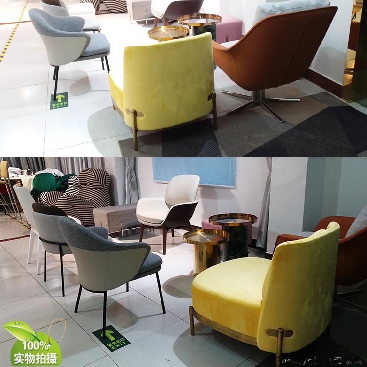新款大号沙发椅 罗伯托马莎扶手椅异形玻璃钢加固实木脚高回弹棉