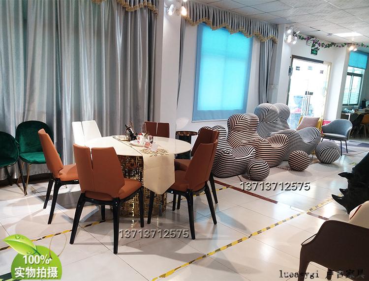 法国设计师 保罗·马蒂新中式餐椅 实木脚架 异形餐椅洽谈椅 布艺皮革西皮超纤仿真皮