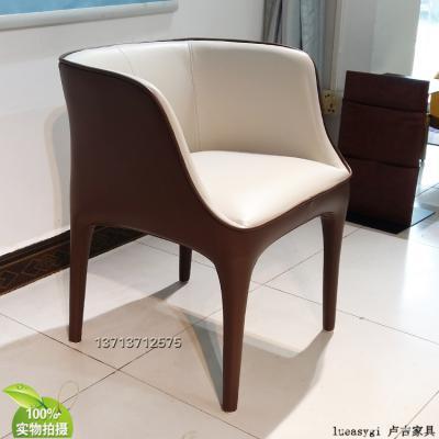 意大利吉奥热蒂戴安娜扶手椅餐椅 洽谈椅 耐用可回收再生产旧换新 玻璃钢加固型
