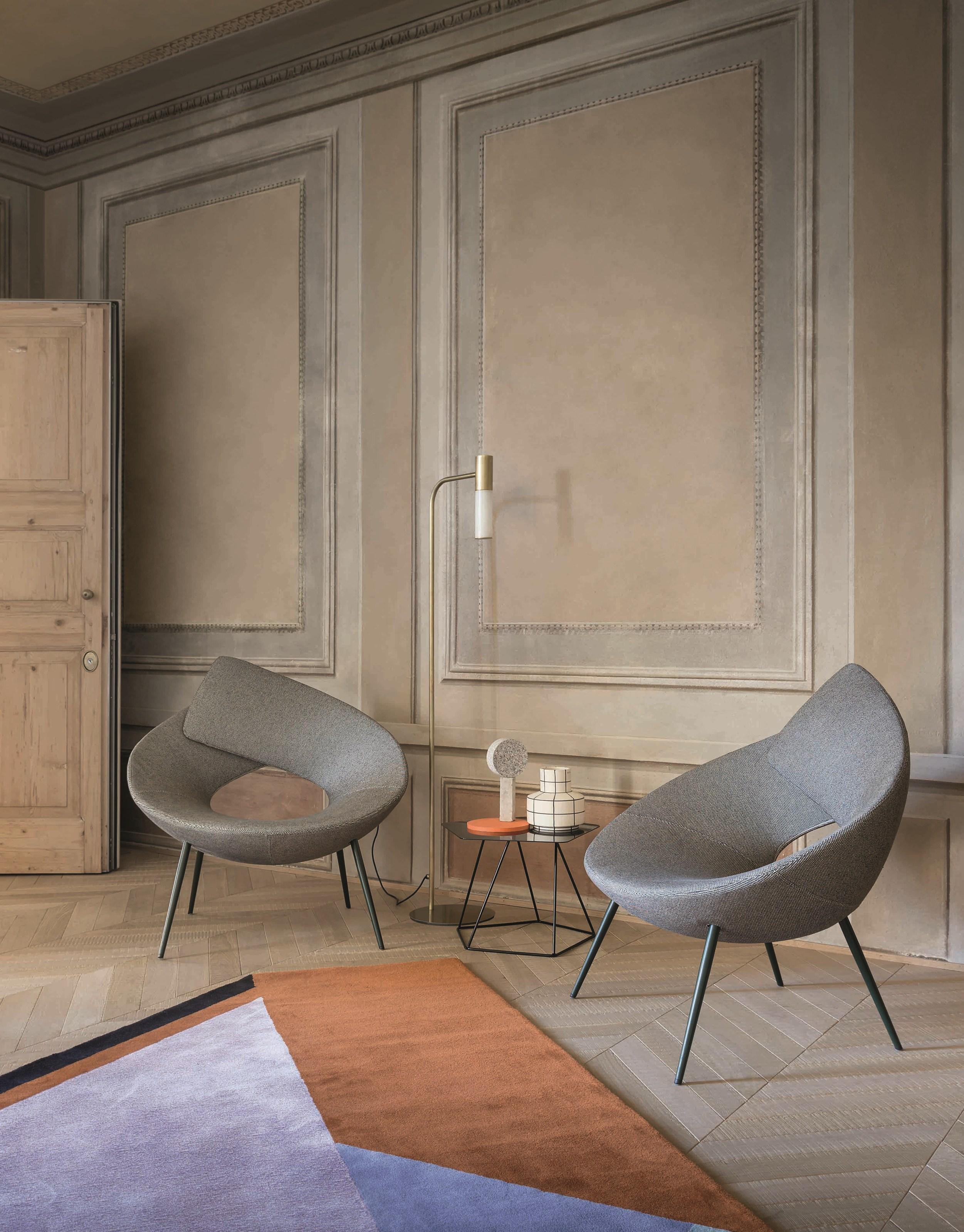 意式极简休闲椅子 简单锁椅  Bonaldo 设计师 Alessandro Busana