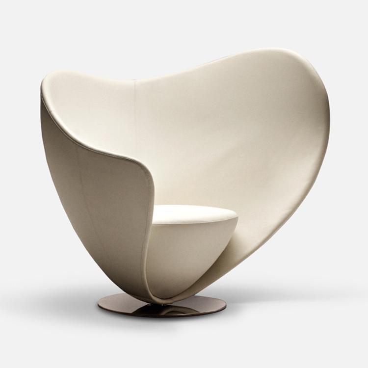 意式极简轻奢家具 La Cividina Peter Harvey  MON COEUR sofa chair 玻璃钢不锈钢心椅