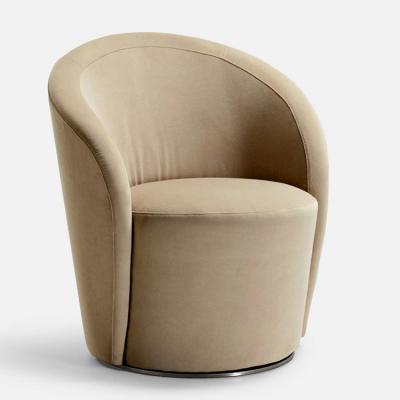 意大利 La Cividina Fulvio Bulfoni SPEAK EASY 圆形圆柱半不锈钢沙发休闲椅