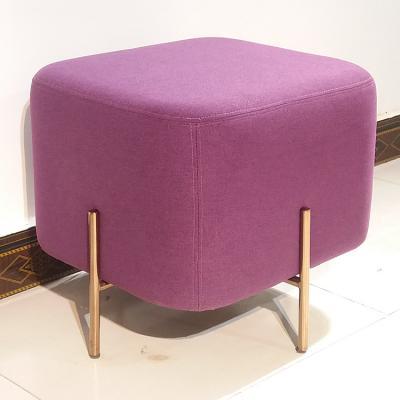 换鞋凳矮凳豆腐块布艺绒布大象椅北欧沙发凳大象椅长凳 凳墩榻