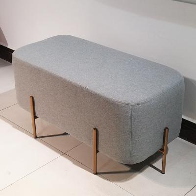 双人位 换鞋凳矮凳豆腐块布艺绒布大象椅北欧沙发大象椅长凳墩榻脚踏