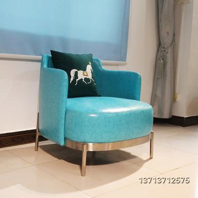 意大利设计师 米洛提轻奢极简约沙发椅现代布艺商用家用 酒店会所
