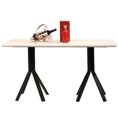 铁五金黑色喷漆烤漆粉 人造大理石餐厅酒店样板房餐桌咖啡桌会议桌