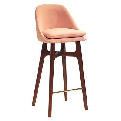 实物实木酒吧椅 吧凳 会所酒店吧椅咖啡店高脚椅 美国设计上海设计华人设计