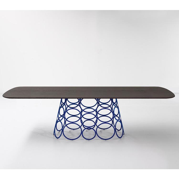 HULAHOOP 桌子 餐桌 圆桌 会议桌 家用酒店会所 五金铁艺不锈钢电镀实木大理石桌面