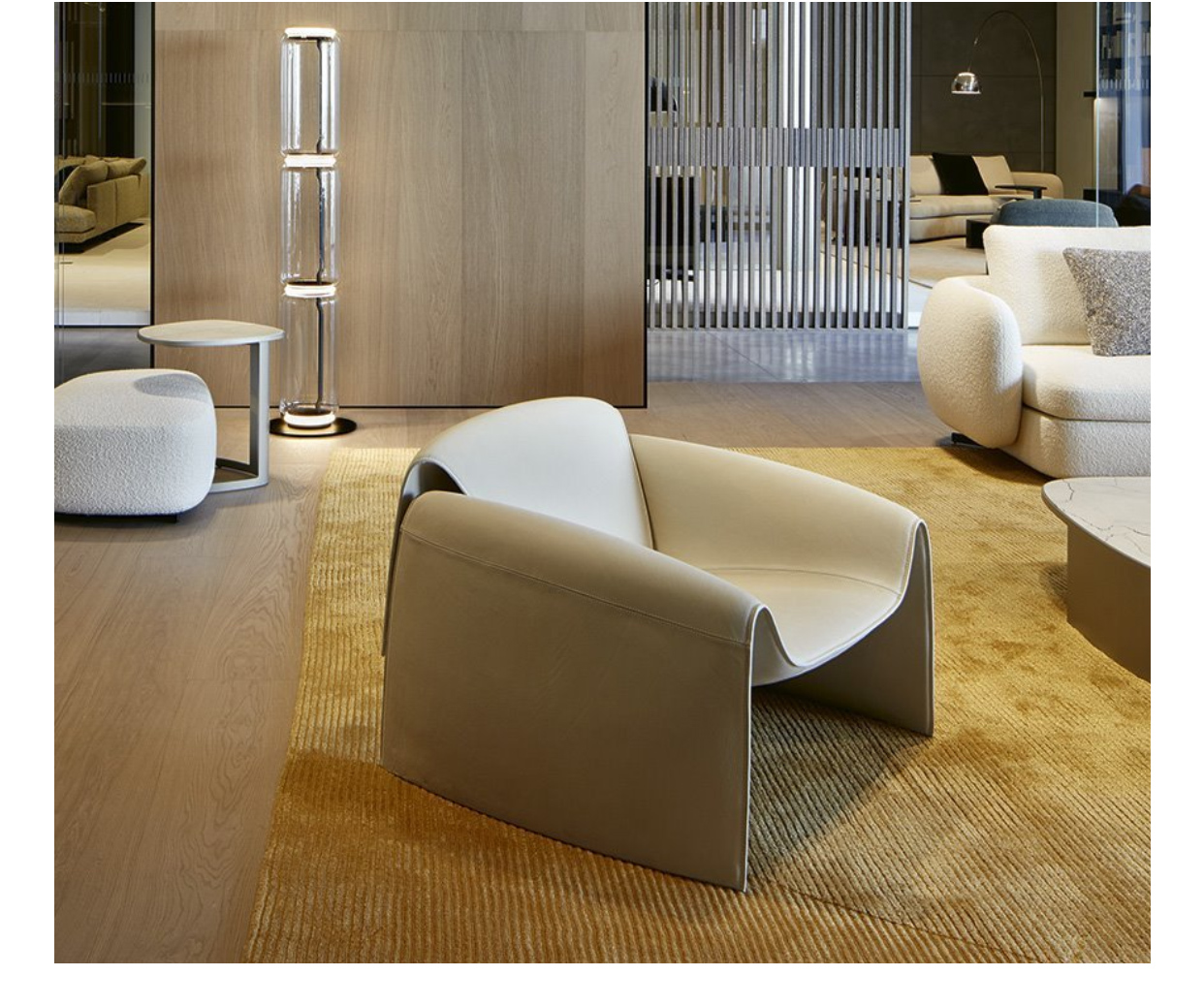 意大利品质家具 Poliform  LE CLUB 沙发椅 异形玻璃钢内架椅 Designer by Jean-Marie Massaud