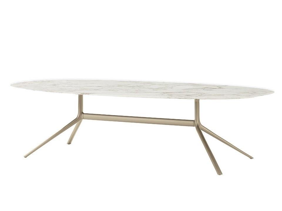 不锈钢电镀香槟金 铁漆金色 大理石 椭圆形圆桌面 人造大理石 帖纸大理石