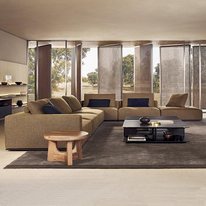 意大利 Poliform 整体家具空间设计 WESTSIDE  sofa by Jean-Marie Massaud 组合沙发茶几五金实木沙发体