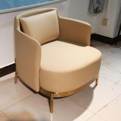 意大利设计师 不锈钢金色 铁黑色白色皮质布艺 扶手沙发椅绷带椅 高档会所沙发 高档沙发椅