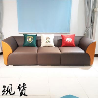 实物现货| 宾利同款家具温斯顿刺绣沙发 单人位双人位 三人位真皮沙发2.4米长
