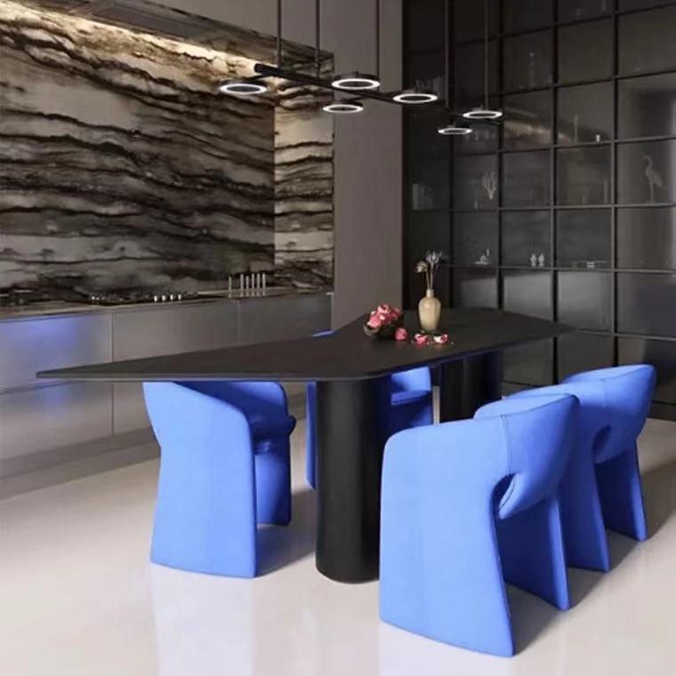 法国设计师 Cedric Ragot 罗奇堡餐椅极简扶手休闲椅意式极简沙发单人椅子