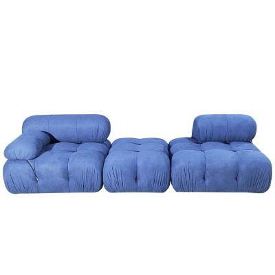 实物2021年 新款意大利设计马里奥简约拉扣复古自由组合创意 变色龙单人沙发