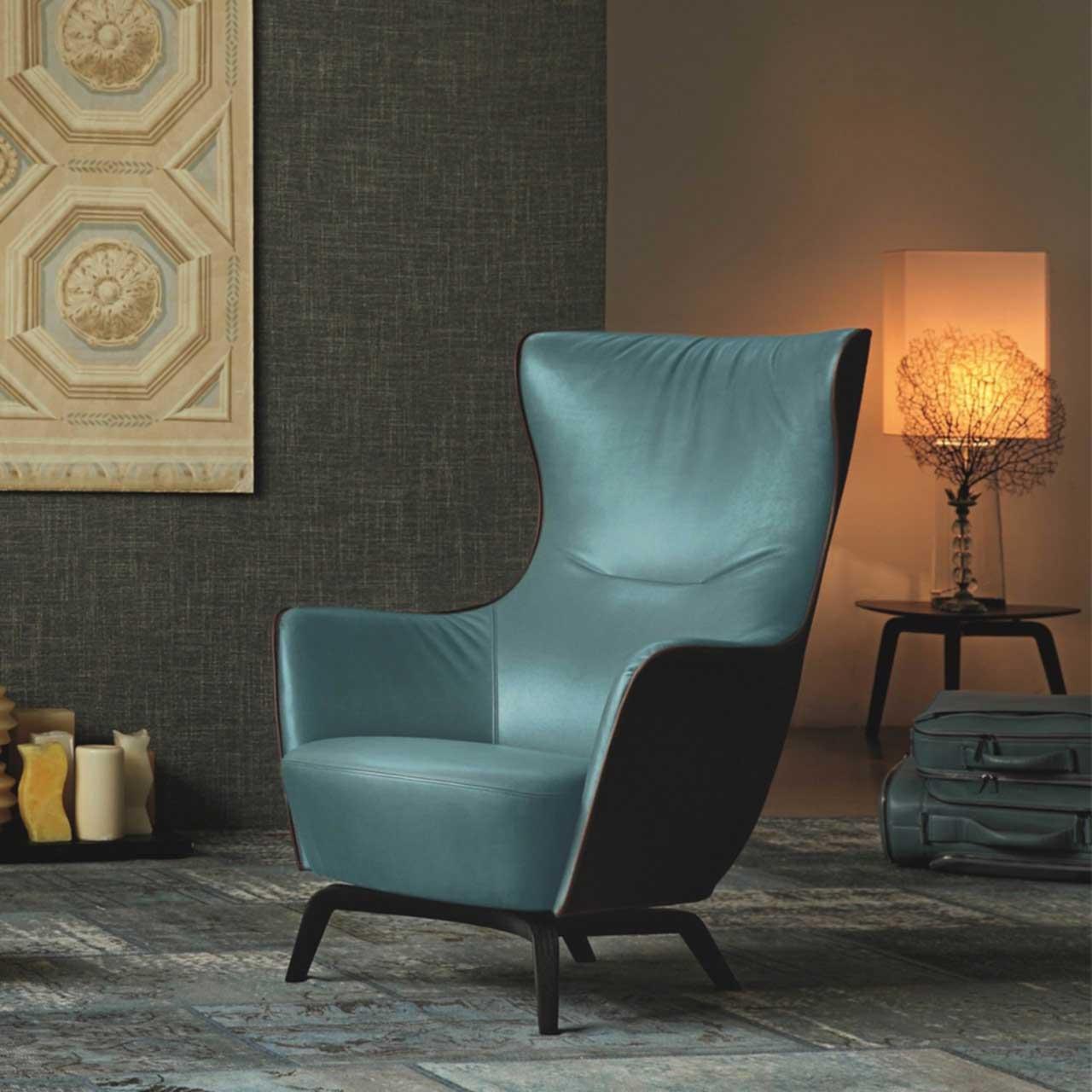 皮革双色布艺真皮休闲椅 欧式美式高端椅子 电视电影广告道具出