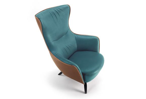 皮革双色布艺真皮休闲椅 欧式美式高端椅子 电视电影