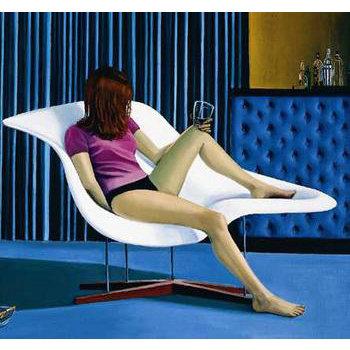 贝壳贵妃椅Eames La Chaise 深海之谜广告选用复古躺椅,敷面膜躺椅首选